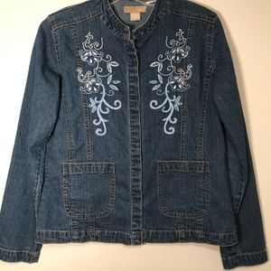 wear it Denim jacket with embroidery and beading